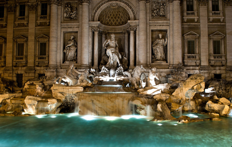 La Fontana di Trevi a Roma