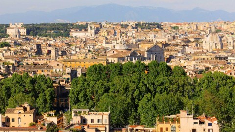 Vista di Roma dal Gianicolo